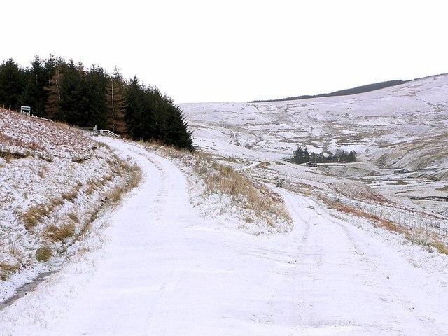 Track junction west of Uswayford