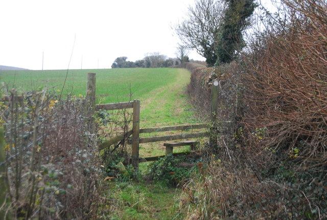 Stile near Winterbourne Abbas