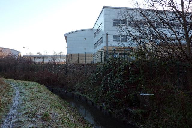 Chorlton Brook at the rear of Chorlton High School