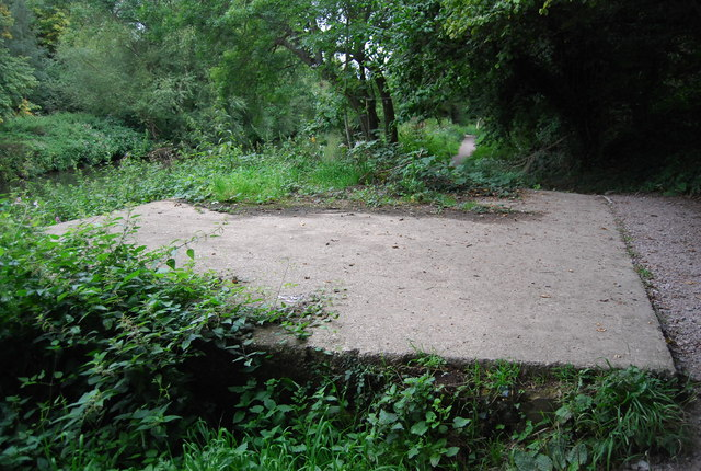 Concrete slab by the Medway