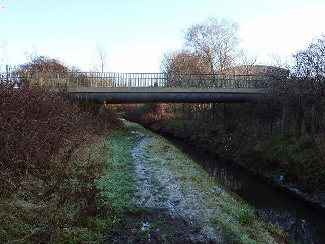 Bridge across Chorlton Brook at the rear of Chorlton High School