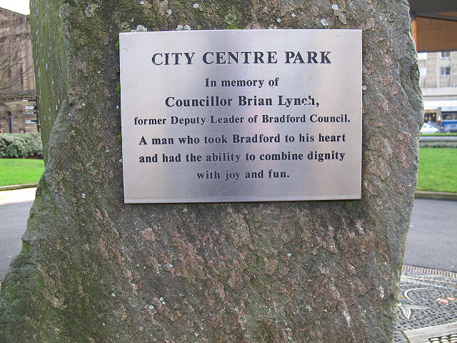 City Centre Park; Lynch plaque