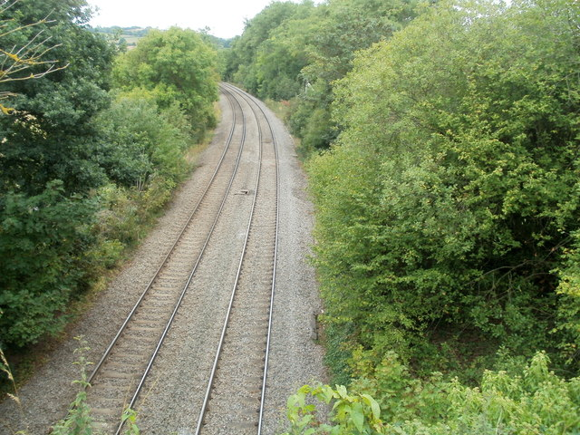 Welsh Marches railway line heads south away from Pontrilas
