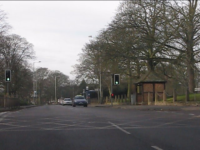 The Rock (A41) at Stockwell Road crossroads