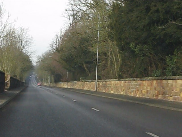 A41 running straight in Staffordshire