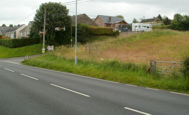 Field on the corner of Castle Road and the A40, Sennybridge