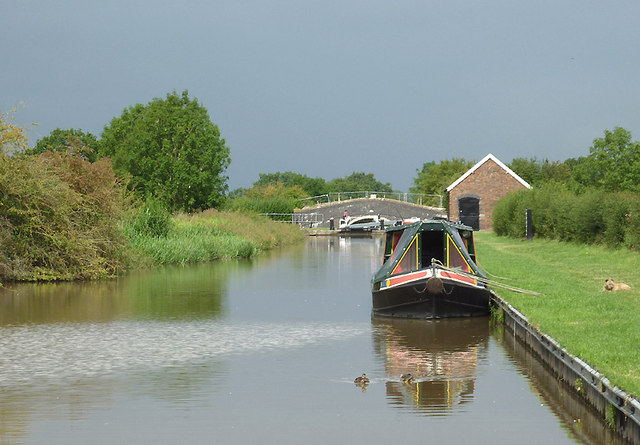 Shropshire Union Canal at Hack Green, Cheshire