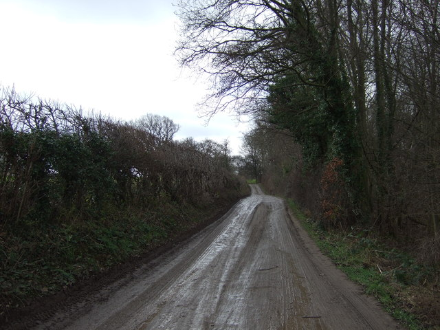 Water Lane towards Cayton