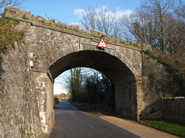 Disused railway bridge, Churston