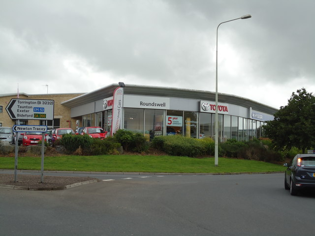 Roundswell Toyota car dealership, Barnstaple