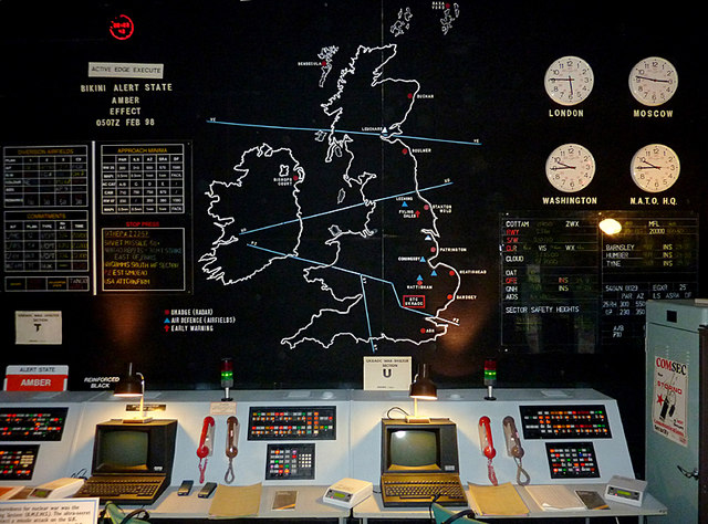 Display at Hack Green Secret Nuclear Bunker, Cheshire