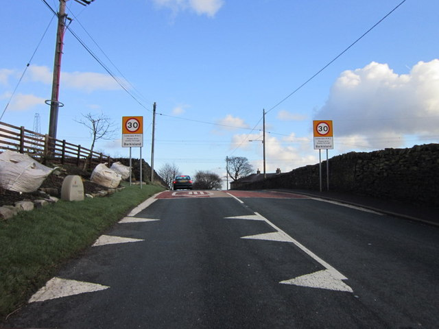 Entering Barkisland on Staindale Road