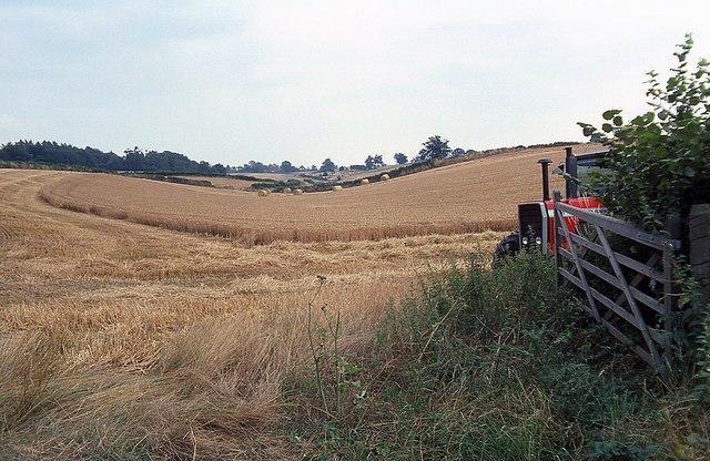 View of farmland from Raikes Lane