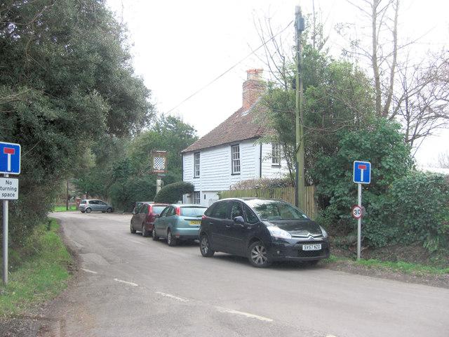 Lower Woodside beside the Chequers Inn