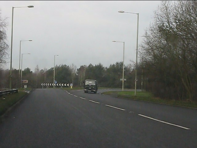 Northbound A41 nearing the M54 junction