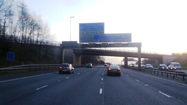 Gantry over the M6 - Preston