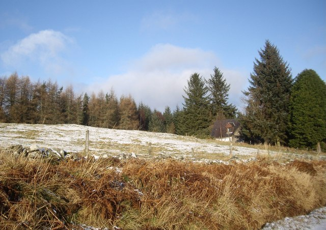 A light covering of snow on Learney Hill