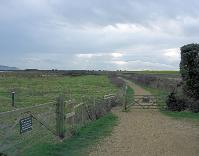 Entrance to the path to Keyhaven