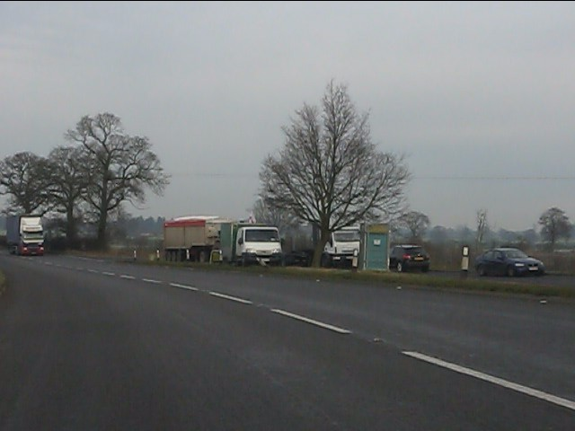 Southbound layby on the A41