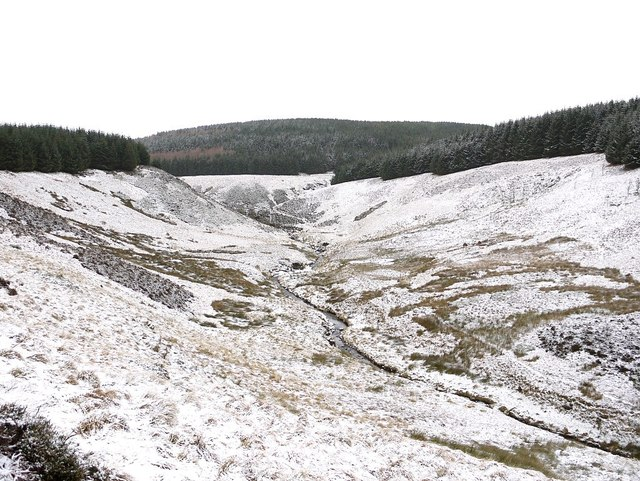 Valley of the Usway Burn below Davidson's Linn