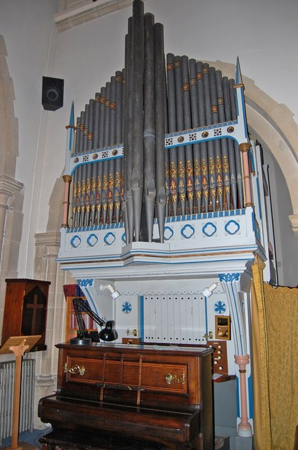Organ in St Michael and All Angels church, Tenterden