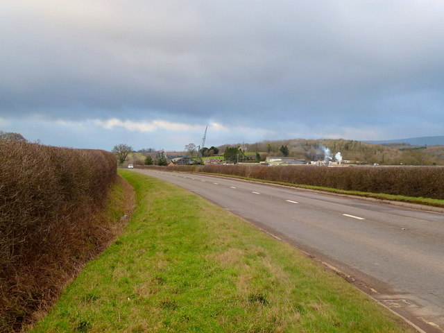 A465 and distant view