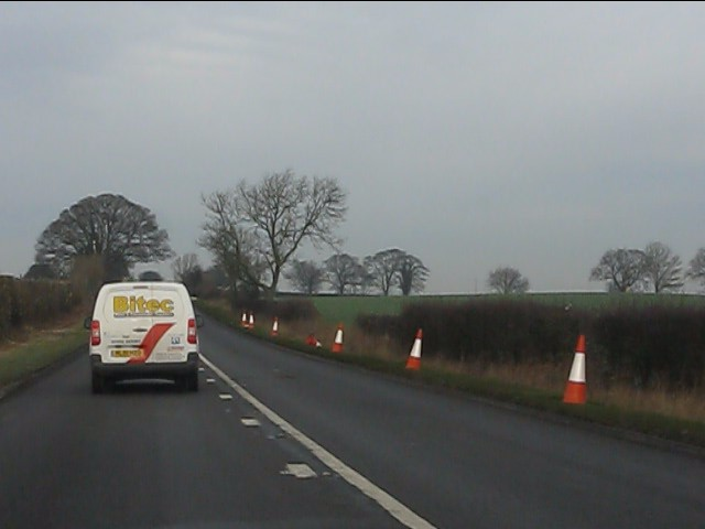 A41 at the plateau north of Gorsey Bank