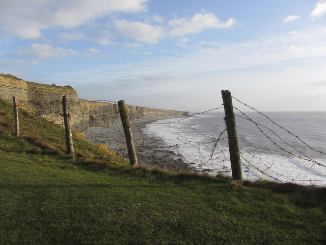 Cliff edge and view to Nash Point