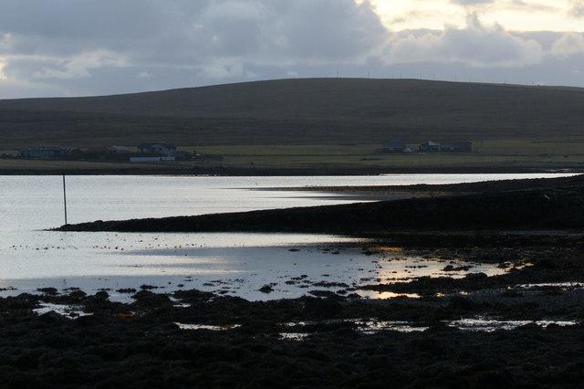 Coastline at Buness, Baltasound, at dusk