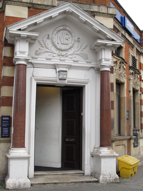 Entrance to the former National Bank, Craven Park Road / St. Mary's Road, W10