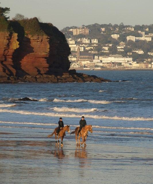 Horses on Goodrington Sands