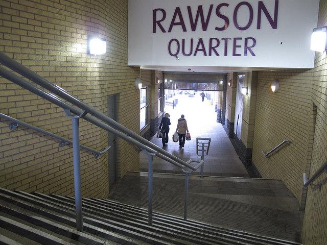 Steps to the Rawson Quarter
