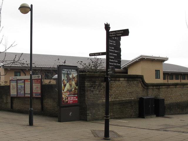 Signpost outside Forster Square station
