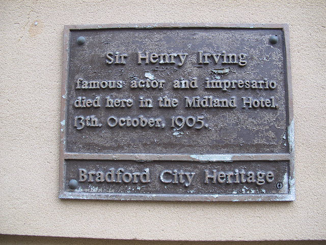 Plaque to Sir Henry Irving