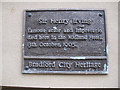 Photo of Henry Irving brown plaque