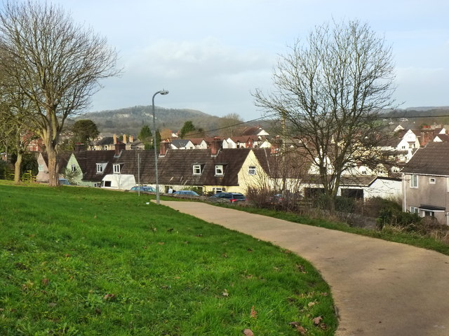 Newly surfaced path, Piggies Hill Park, Chepstow Garden City