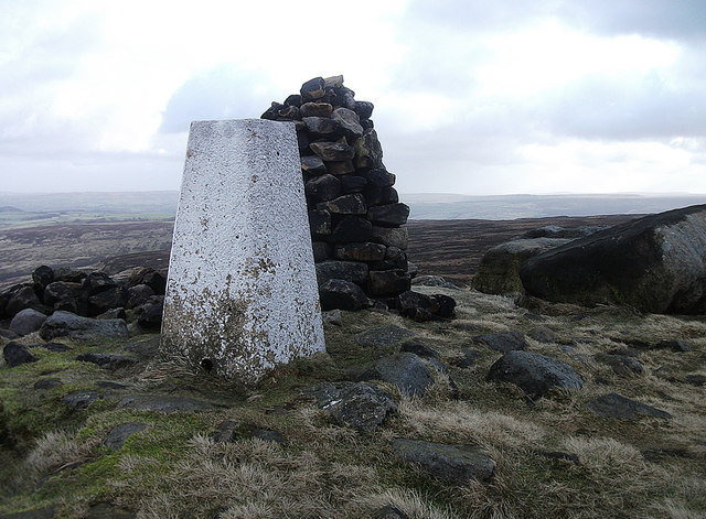 West Nab trig pillar, Wessenden Head