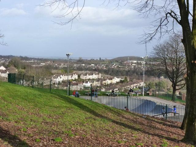 Skate park in Piggies Hill Park, Chepstow Garden City
