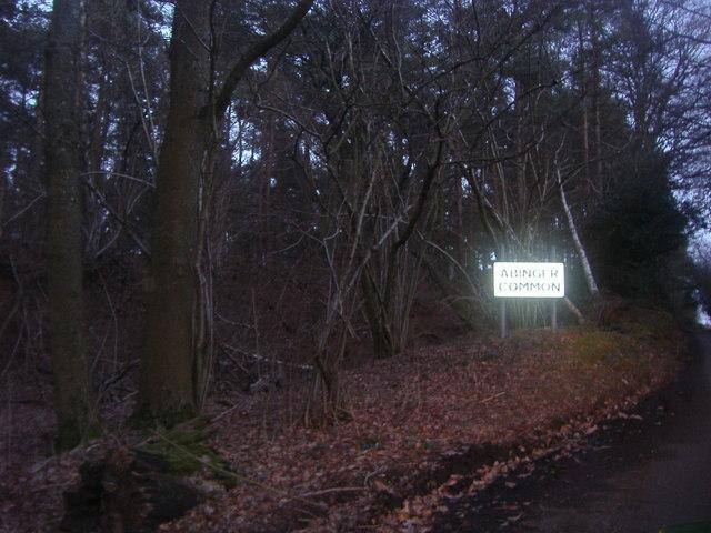 Entering Abinger Common