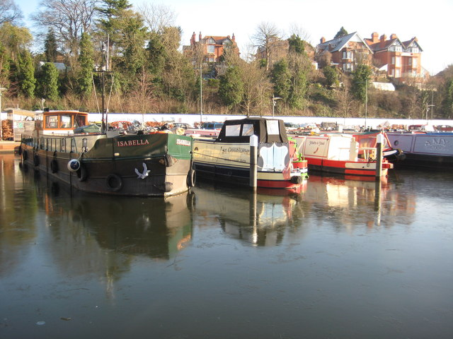 Canal boats, Diglis Basin