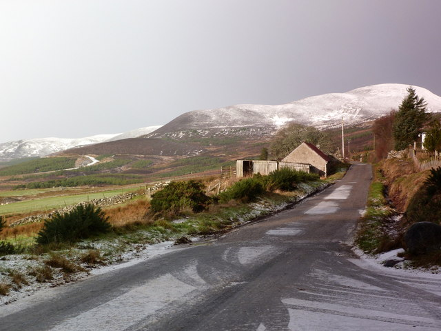 Minor road near Backies