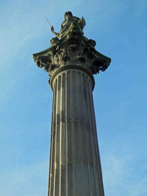 Minerva atop the Duke of Argyle's column, Wentworth Castle grounds