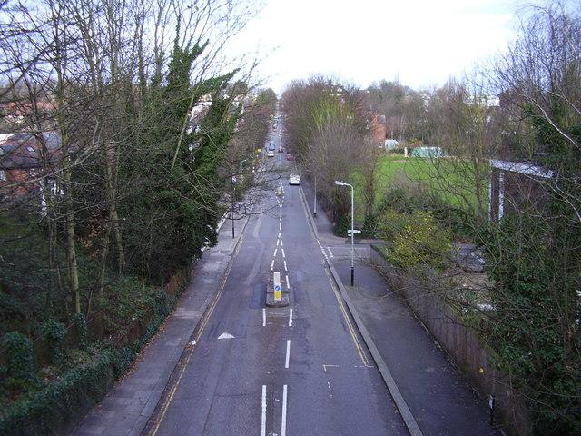 View from Parkland Walk, looking northwest