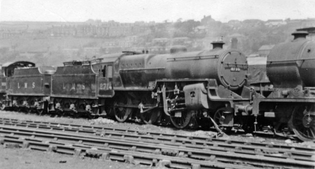 LMS Hughes/Fowler 2-6-0 at Sowerby Bridge Locomotive Depot