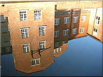 SO8554 : Reflections in the Worcester and Birmingham Canal by Philip Halling