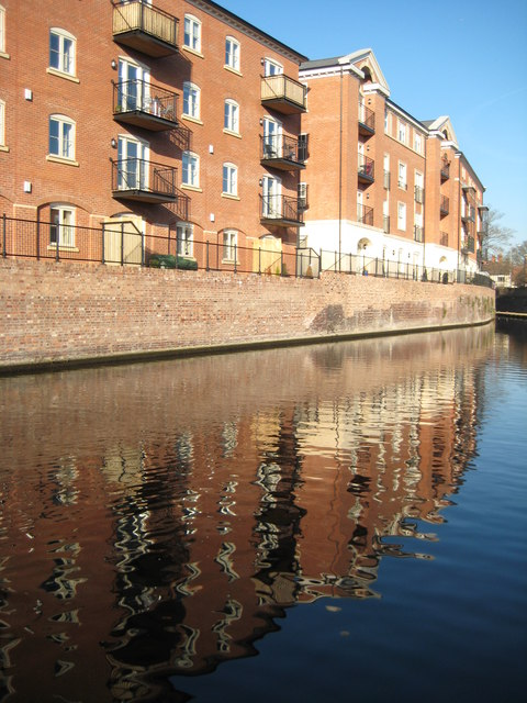 New canalside apartments