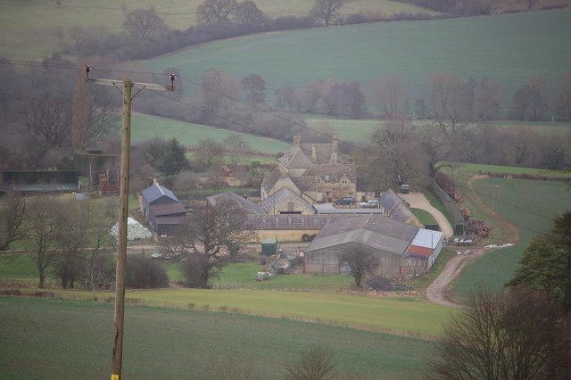 Wadfield Farm viewed from near Belas Knap