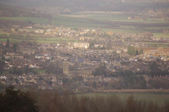 Winchcombe viewed from near Belas Knap
