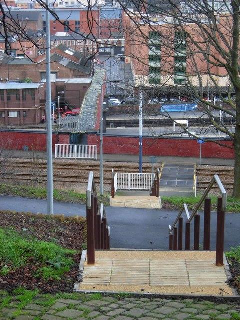 Steps down from Shrewsbury Road, Sheffield