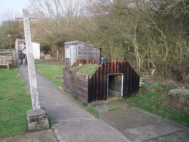 Anderson shelter, Dunton Plotlands